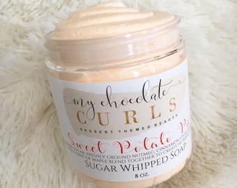 Sweet Potato Pie, Sugar Whipped Soap, Sugar Scrub, Body Polish, Exfoliate, Bath and Beauty, Soap, Whipped Soap, Beauty, Dessert Beauty