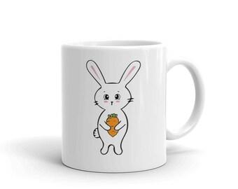 Bunny Mug | Bunny Coffee Mug | Fun Gift Rabbit Mug | Cute Gift for Her | Gift Mug For Bunny Owner | Fun Mug | Cute Coffee Mug | Coffee Cup|
