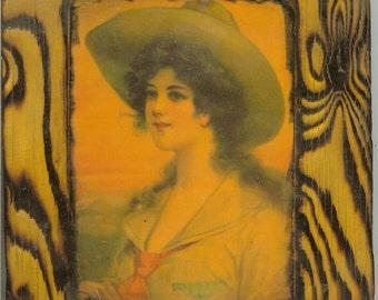 Cowgirl Portrait - Wooden Plaque