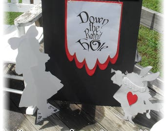 Alice in Wonderland Decorations And Party Props-- White Rabbit ,Mad Hatter Tea Party, Birthday, Bridal Shower, Landexdesign