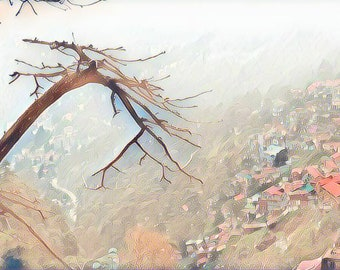 A tree above Dermasala Digital art download