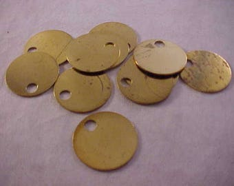 11 Brass Rounds Stamping Blanks