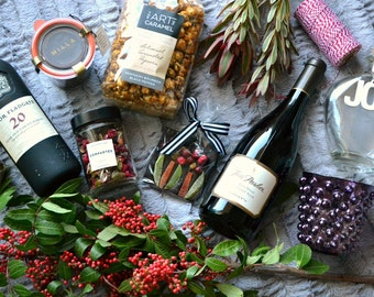 Stock Photo Wine and Artisanal Food Snacks