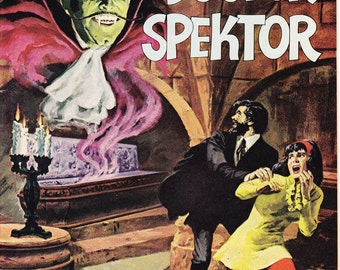 The Occult Files of Doctor Spektor 1, Horror Comic, KEY Monster book, Halloween, scary art. 1973 Gold Key in VF+ (8.5)