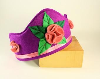 Felt Crown - Princess Crown - Party Crown - Kid Costume - Flower Crown -