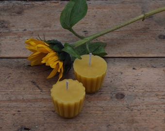 Two chef's candles, beekeeper's wax