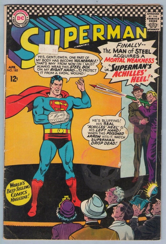 Superman 185 Apr 1966 VG- (3.5)
