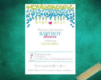 Dippy Dots Baby Shower Invitation-Boy/Girl/Neutral