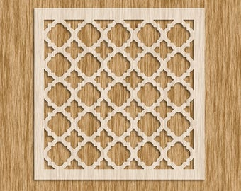 "Moroccan Pattern Tile Design Stencil - Sku PM0104 (8.5"" x 8.5"")"