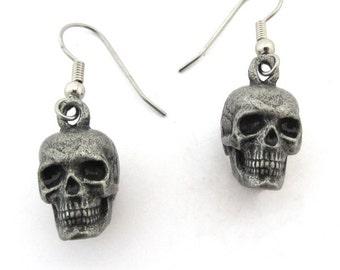 Skull Earrings - Human skull,  Skull Jewelry
