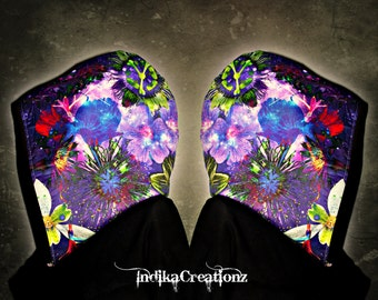 COSMIC BLOOM // Custom Organic Cotton Hood!