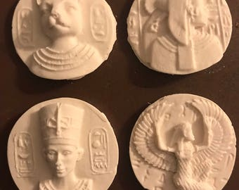 Egyptian Cabochons, Egyptian Pharaoh, Jewellery supplies, Egyptian embellishments, Mixed media Crafts, Powertex, Mixed Media
