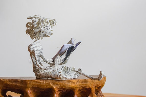 "Book Sculpture, Mary Oliver's ""Swan"""