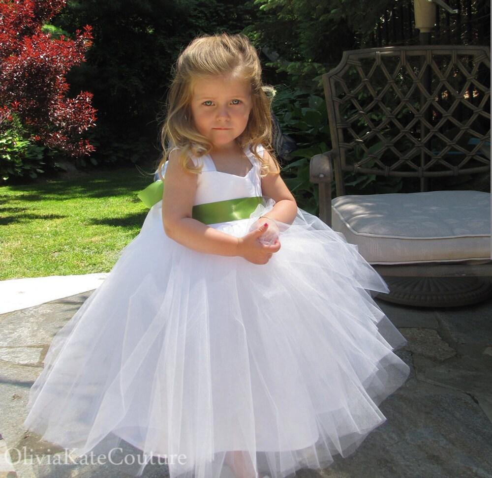Flower Girl Dress White Cotton