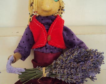 Map postcard puppet and lavender