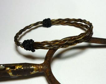 Horsehair Adjustable Bracelet - Braided Horsehair
