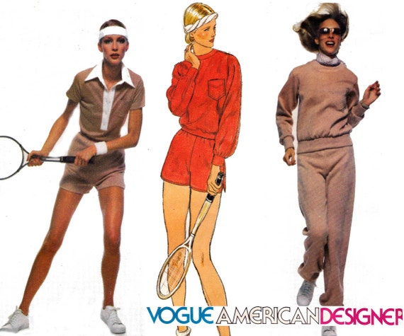 Vogue American Designer 1636 PENFOLD Retro Womens Stretch Tracksuit ...