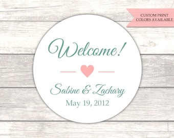 Wedding welcome stickers - Welcome stickers - Wedding welcome bag stickers (RW081)