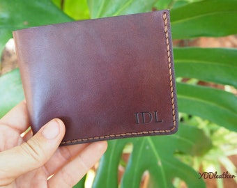 Personalised leather wallet, Custom wallet leather, Minimalist leather wallet, Leather wallet monogrammed, Kangaroo Leather wallet