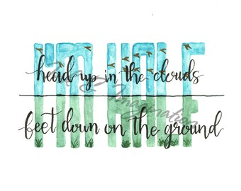 In Between | Kelsea Ballerini Lyric Watercolor Print