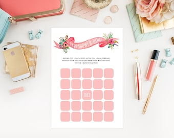 Instant Download - Bohemian Stag Baby Bingo Game Cards