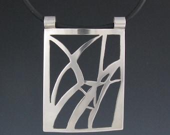 Sterling Silver Reeds Pendant-Handmade
