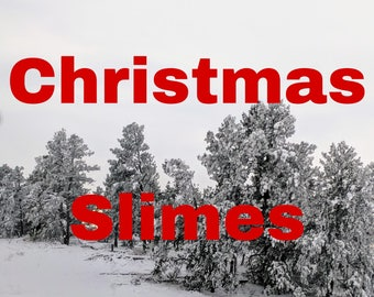 Christmas/Winter Scented Slimes