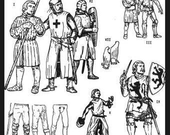 PP101 - Medieval Military Garments Sewing Pattern by PeriodPatterns