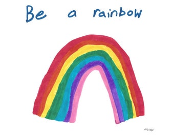 T-shirt, Izzy for Random Acts of Kindness - Be a Rainbow