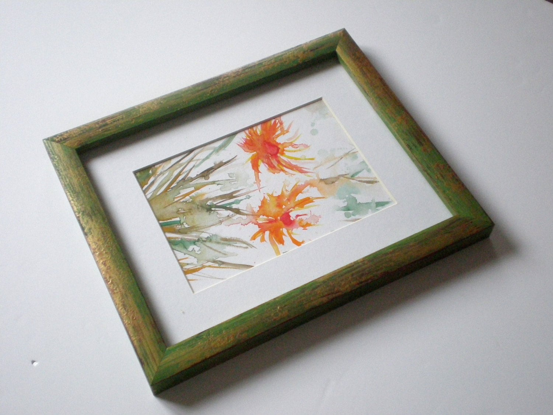 Picture frame A2 frame Rustic frame wood painted frame art frame ...