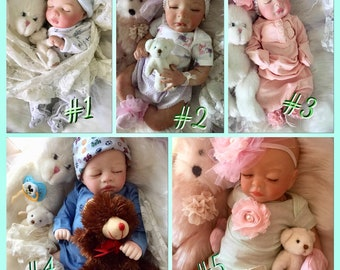 Preemie SPECIAL of the Week! Pick one of the Preemie dolls shown at Sale Price Shown!