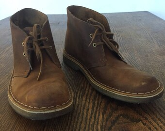 Clarkes Originals Brown Leather Desert Boots Size 8.5M