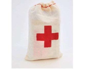 Hangover Kit / First Aid Kit Muslin Bag (10-pack)