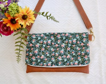 Dusky Blue roses cross-body (Rifle Paper Co)