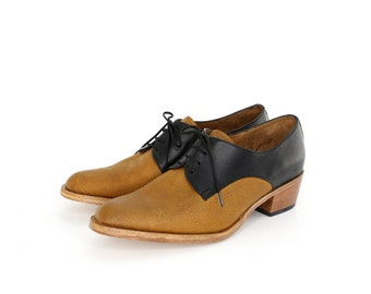 Black and Brown Oxford shoes cuban heel