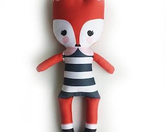 Custom Mod Fox Soft Soft Plushie Doll - Orange
