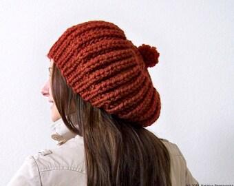 Knit Hat, Pom Pom Hat, Chunky Knit Hat, Knit Slouchy Hat, Slouchy Beanie, Slouch Hat, Slouch Beanie, Pom Beanie, Chunky Hat, Wool Hat Knit