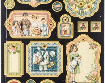 Graphic 45 Chipboard Pieces - Pennys Paper Doll Collection