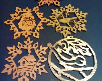 Scroll saw ornaments