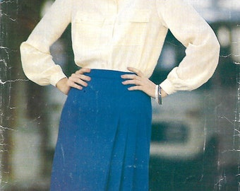 Butterick See & Sew 3283 Misses Blouse And A-line Front Pleated Skirt Pattern, 8-12, UNCUT