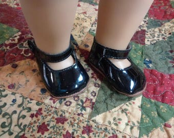 "BLACK Mary Jane Doll Shoes for 18"" Dolls- Fits American Girl Dolls"