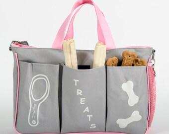 Designer Dog Travel Bag, Dog Diaper Bag, personalized bag, dog bag, dog gift, personalized dog gift