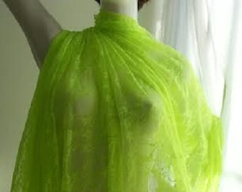 neon lime 4 ways stretch lace fabric 58-60