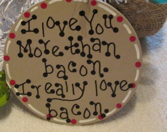 Funny Christmas Ornament about Bacon, Bacon Lovers gift, Bacon decor, bacon ornament, Christmas decor, funny ornament
