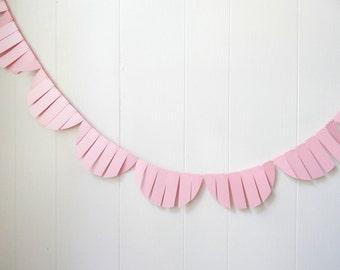 Party Garland / Wedding Garland / Fringe Garland / Pink Bunting / Fringe Scallop garland / Photo Prop