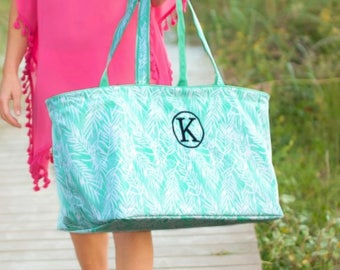Personalized Monogrammed Utility Tote/Pool Tote/Beach Bag