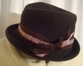 Brown felt hats