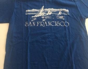 Awesome Vintage 90s San Francisco Sailing T Shirt