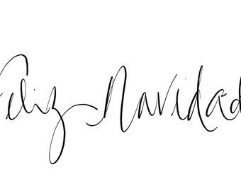 Feliz Navidad Instant Digital Download calligraphy