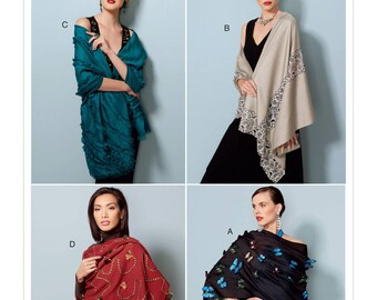 Vogue Sewing Pattern V9249 Embellished Wraps in Four Styles